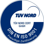 TÜV Nord Zetifizierung DIN EN ISO 9001